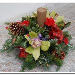 doceflor arranjo natal vermelho e verde