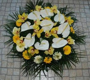 Coroas de flores, Palmas, Flores funerais