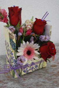 Flores em caixa 1