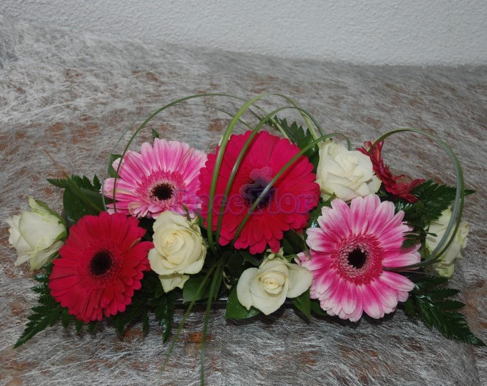 Arranjo Floral em tons rosa