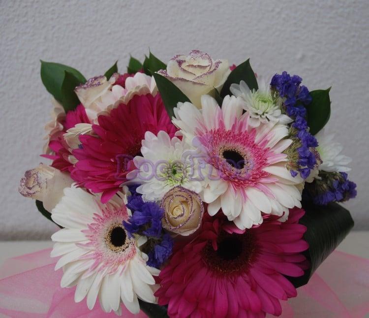 Bouquet de Rosas e Gerberas