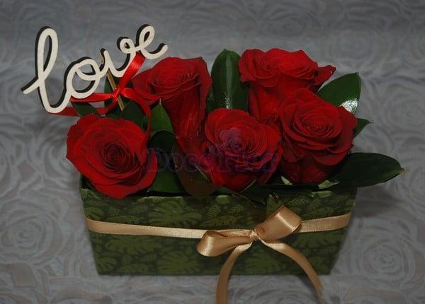 Caixa de Flores Dia Namorados