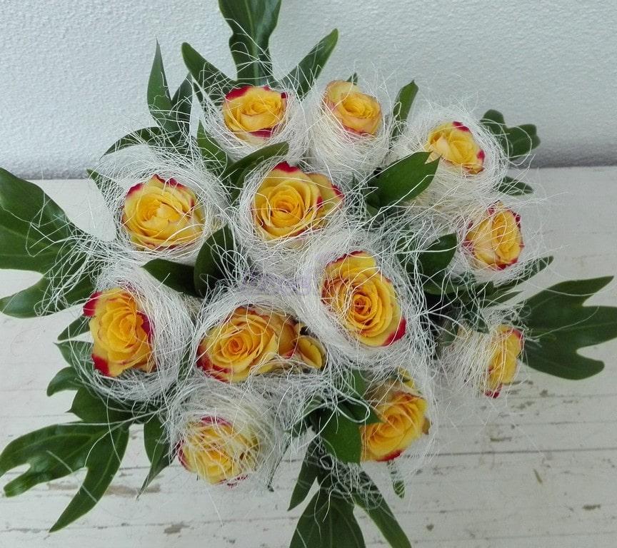 Ninho de rosas Amarelas