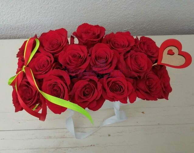 Caixa Coração com rosas