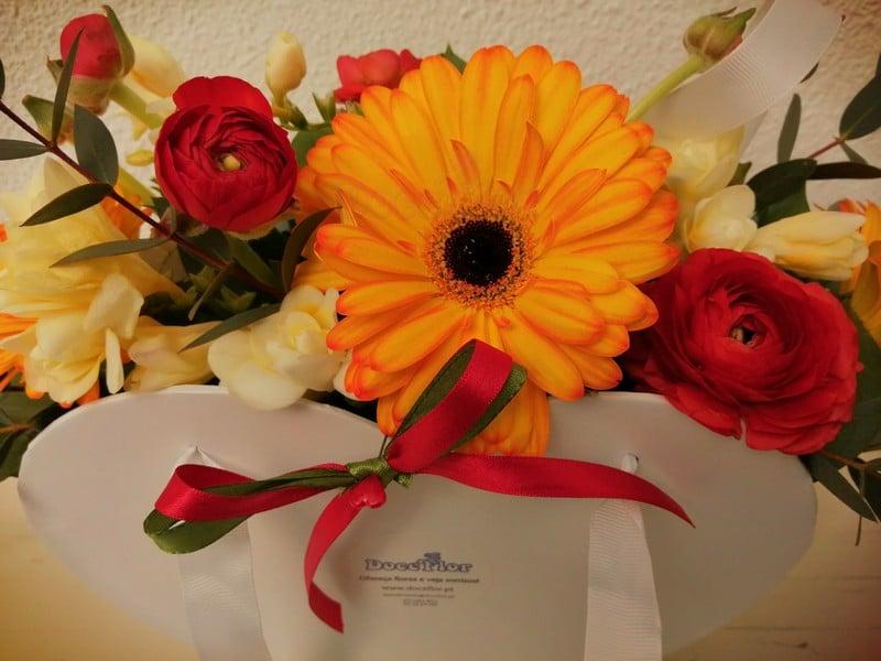 Caixa Coração com flores