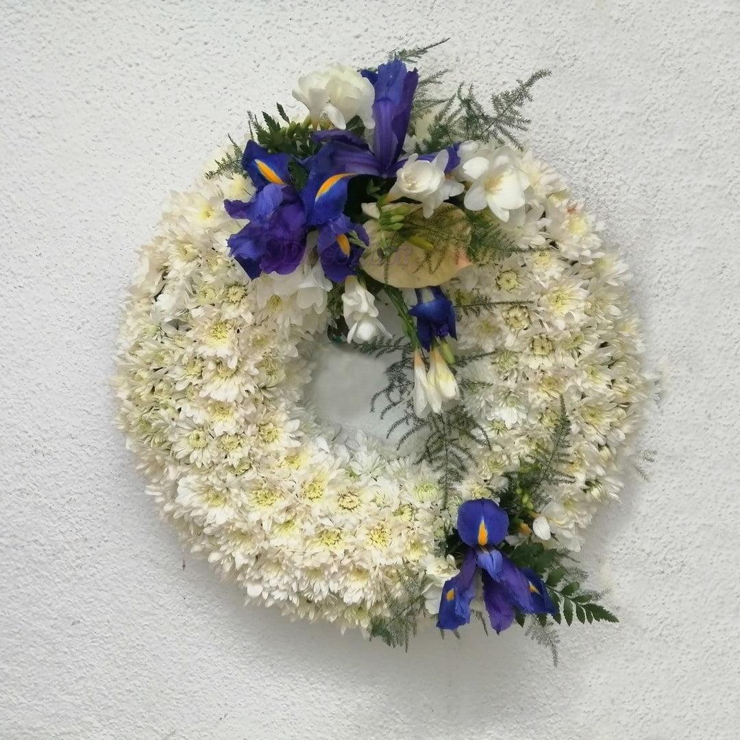 Coroa de margaridas para Funeral