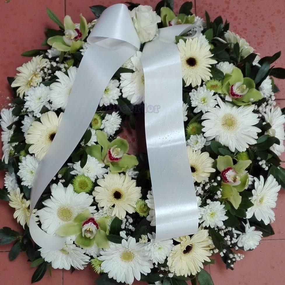 Coroa de Funeral S – Branco