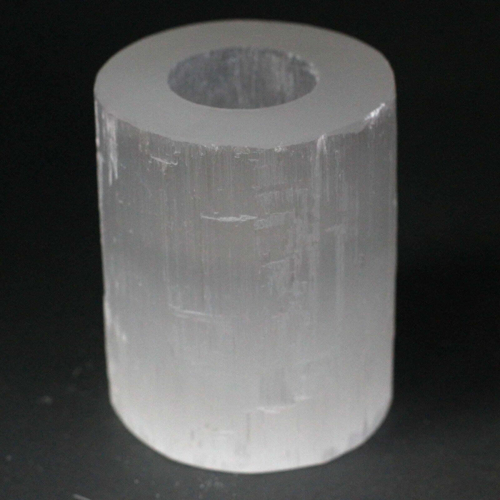Candelabro de cilindro selenite- 10 cm