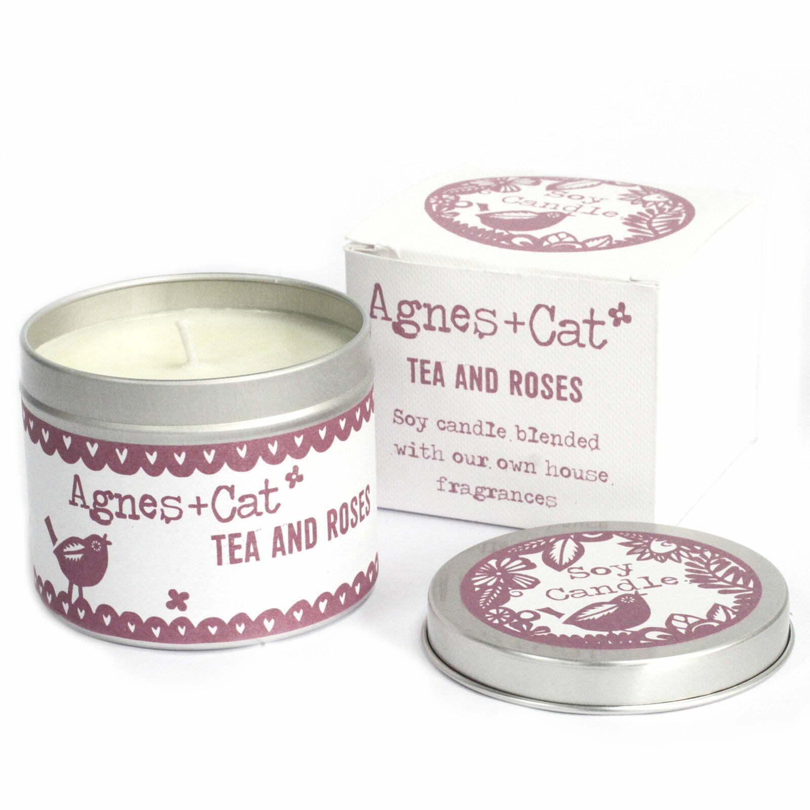 Velas em Lata – Chá e Rosas
