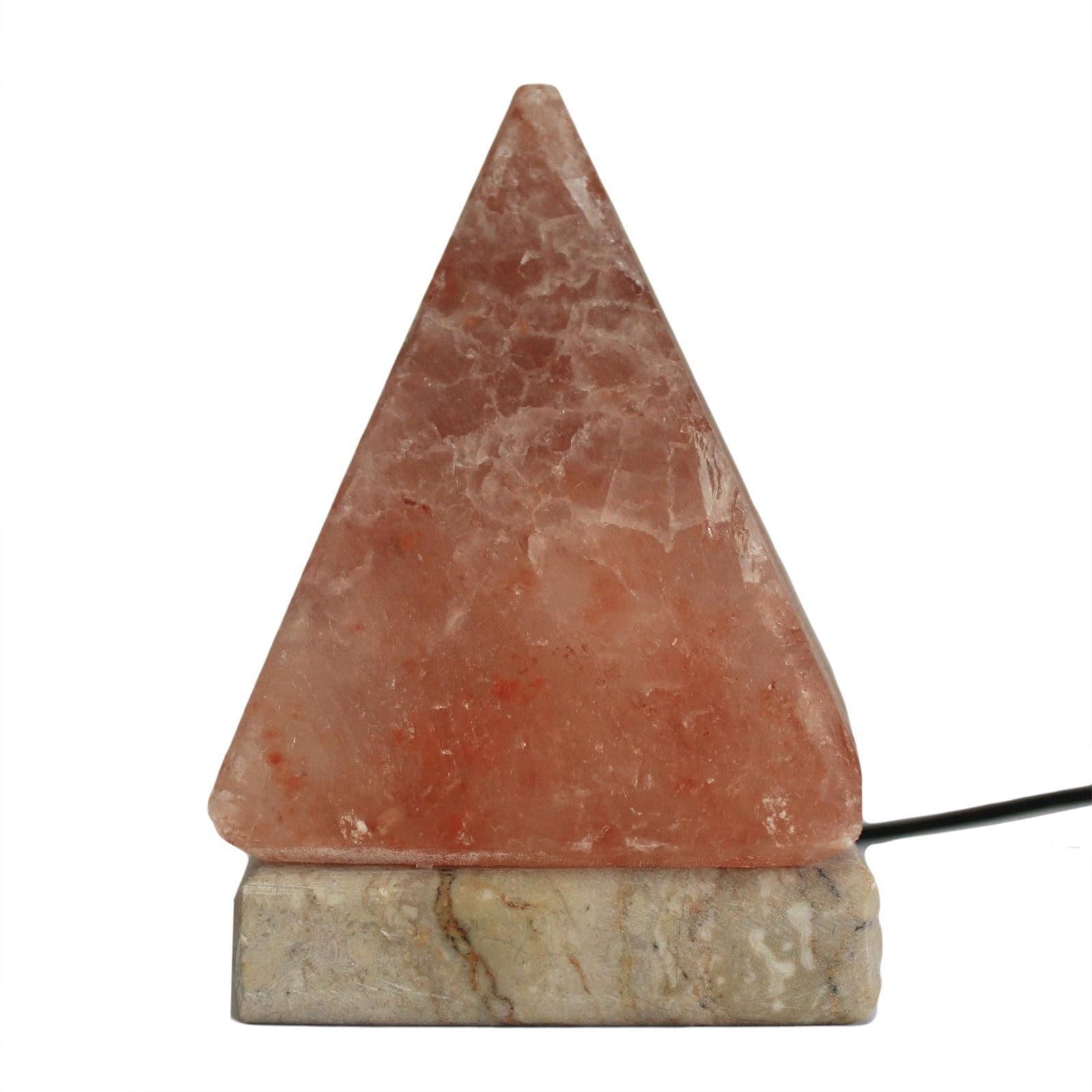 Candeeiro de sal natural USB -Pirâmide 9 cm
