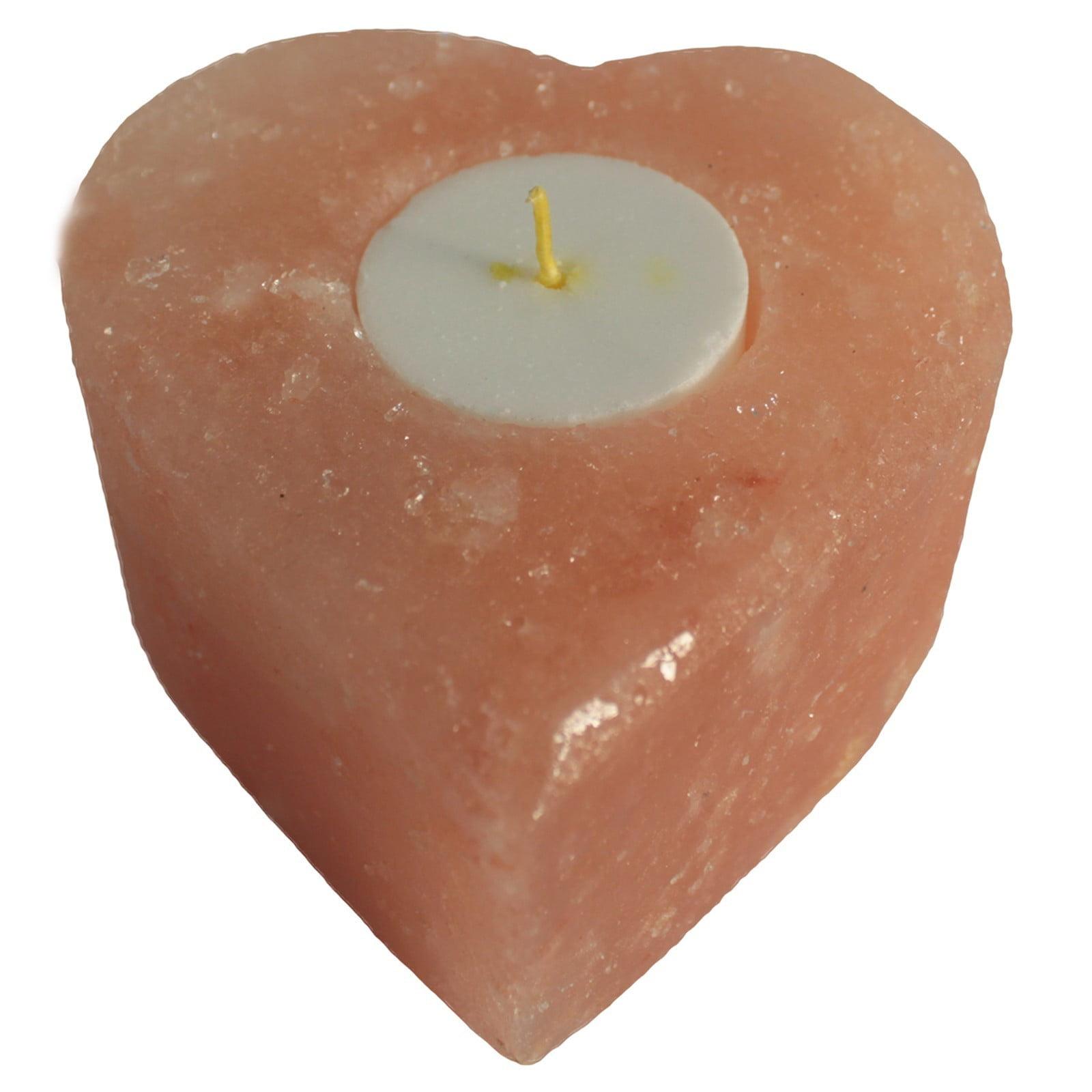 Suporte de vela de sal – Coração Médio
