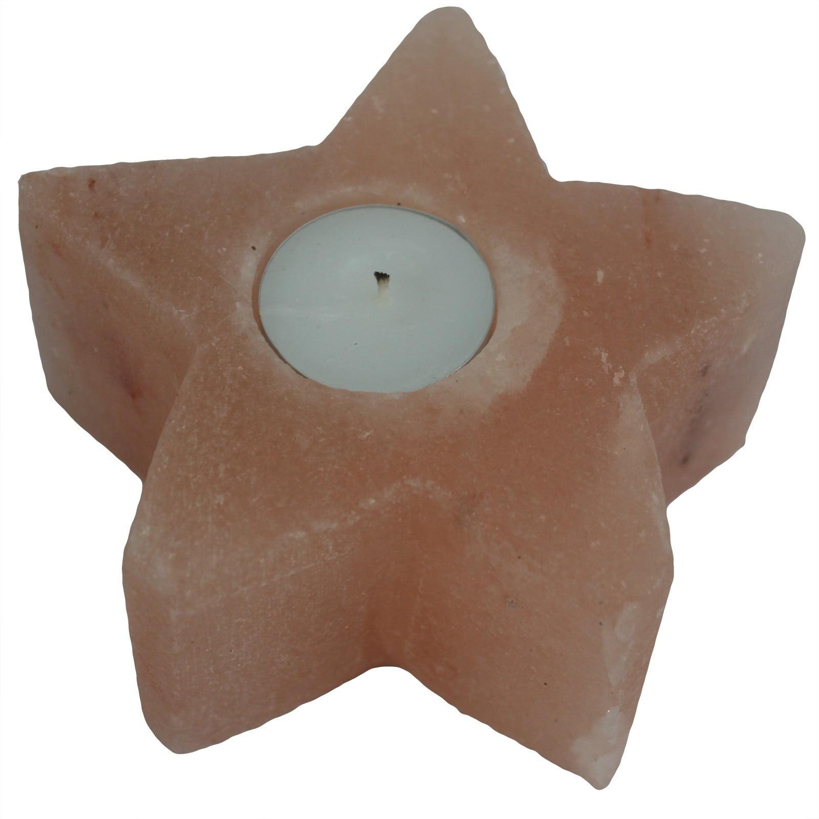 Suporte de vela de sal – Estrela