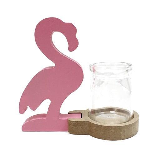 Decoração de casa hidropónica – Flamingo Cor-de-Rosa