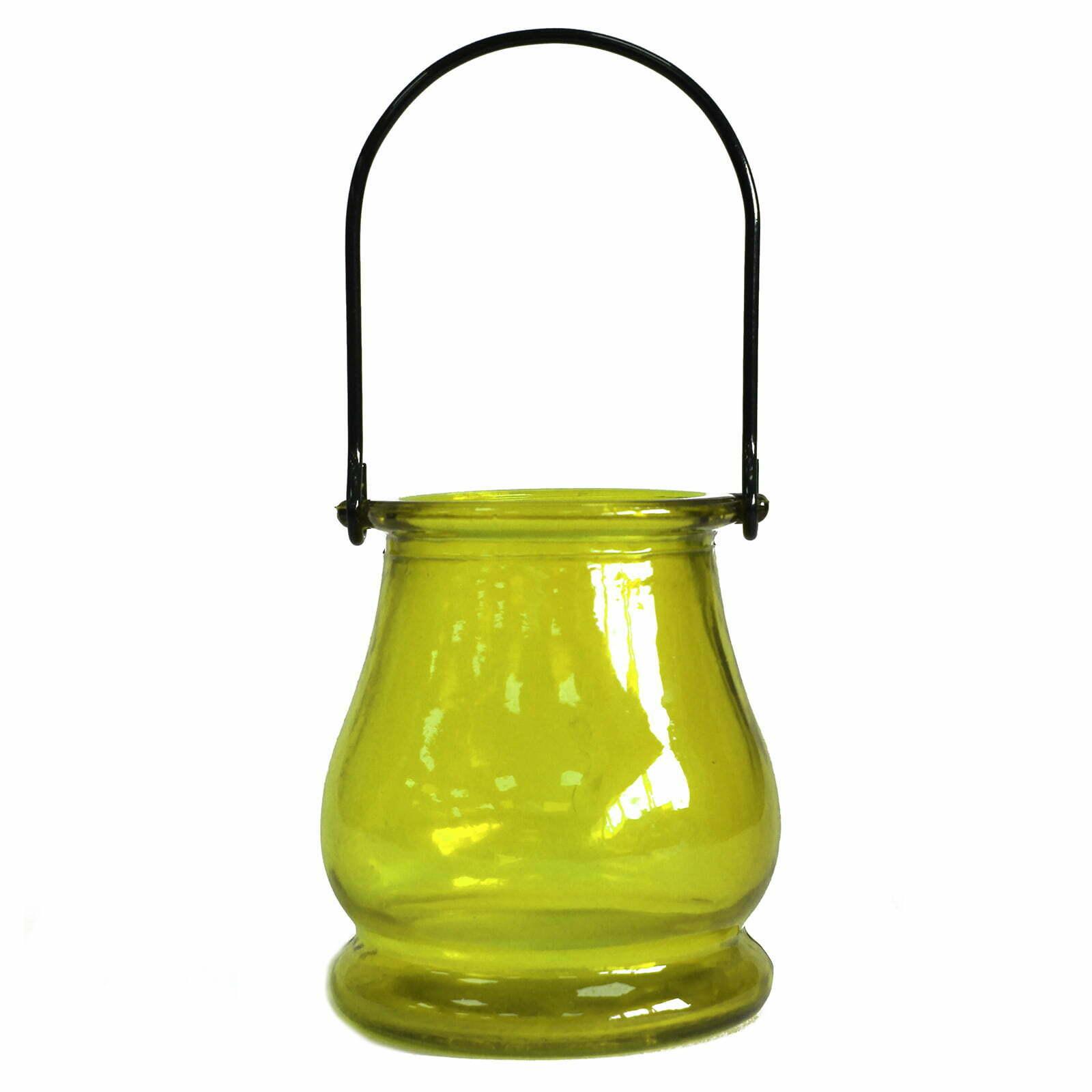Lanterna para velas vidro reciclado – Musgo