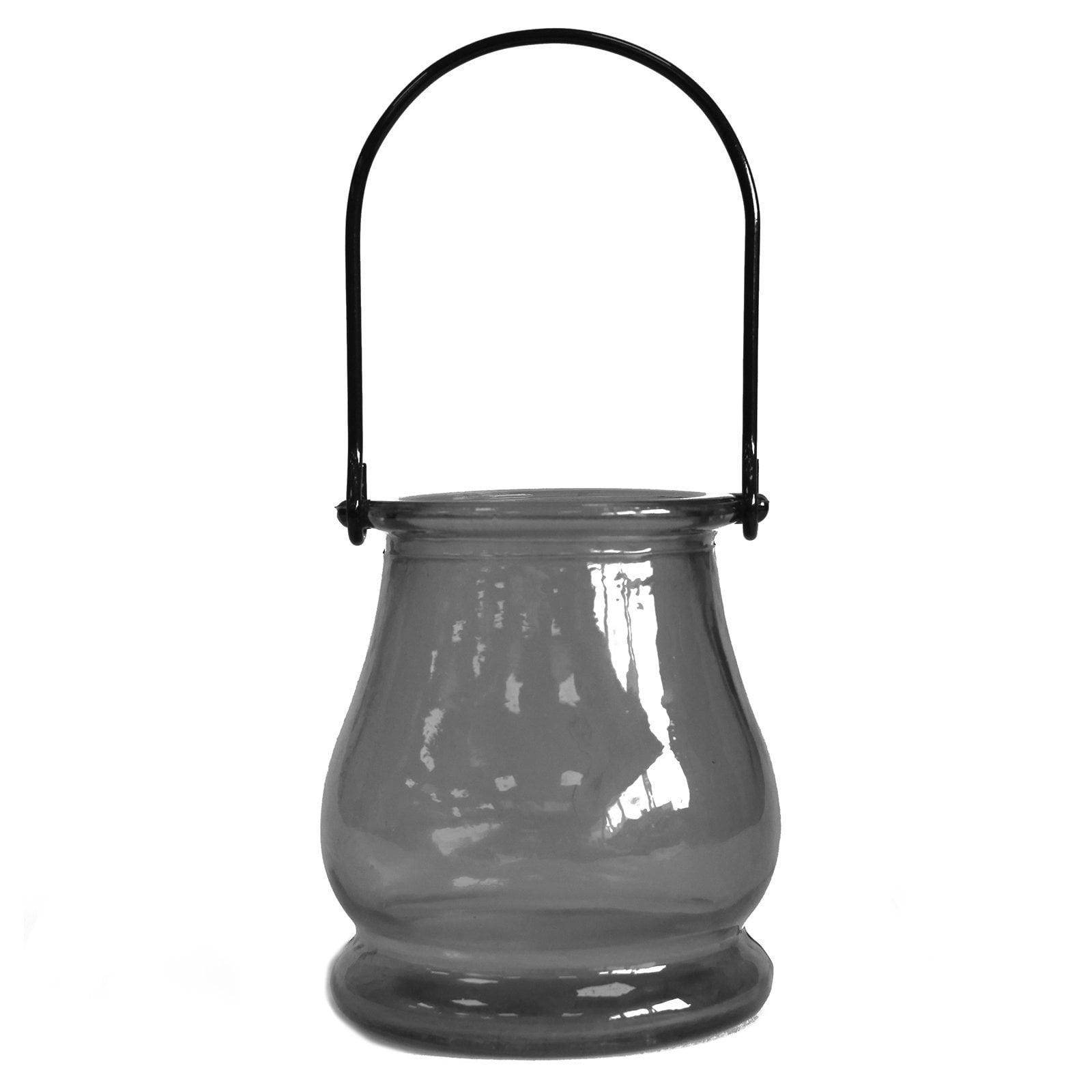 Lanterna para velas vidro reciclado – Cinza