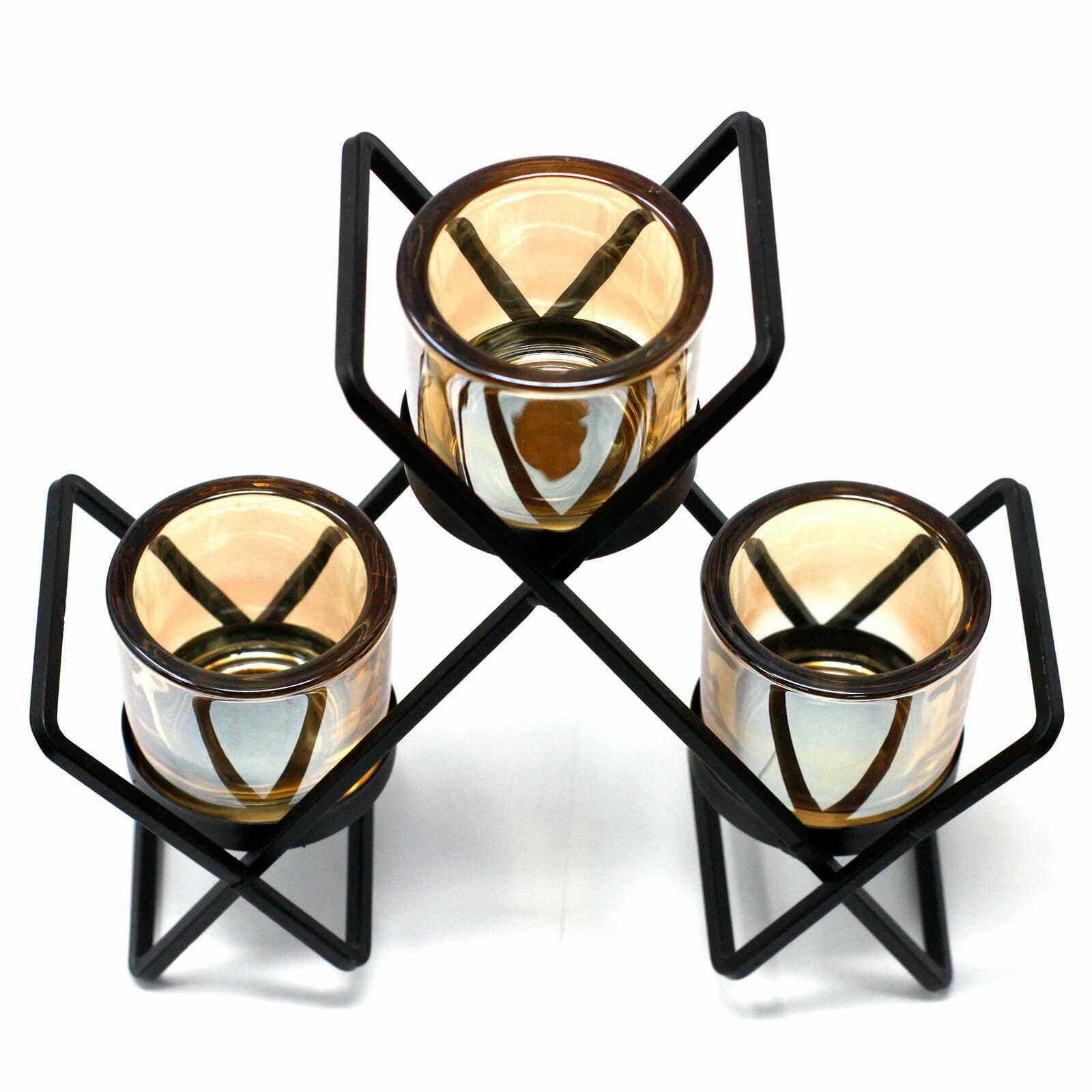 Candelabro de Ferro – Triângulo- 3 Velas