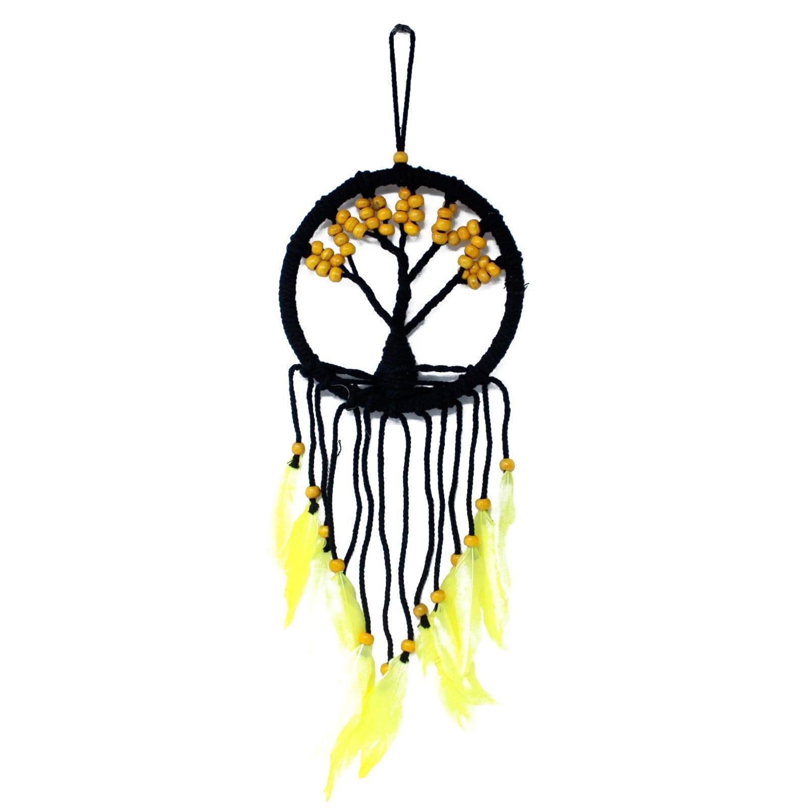 Árvore de vida do apanhador de sonhos -16cm (Variado)