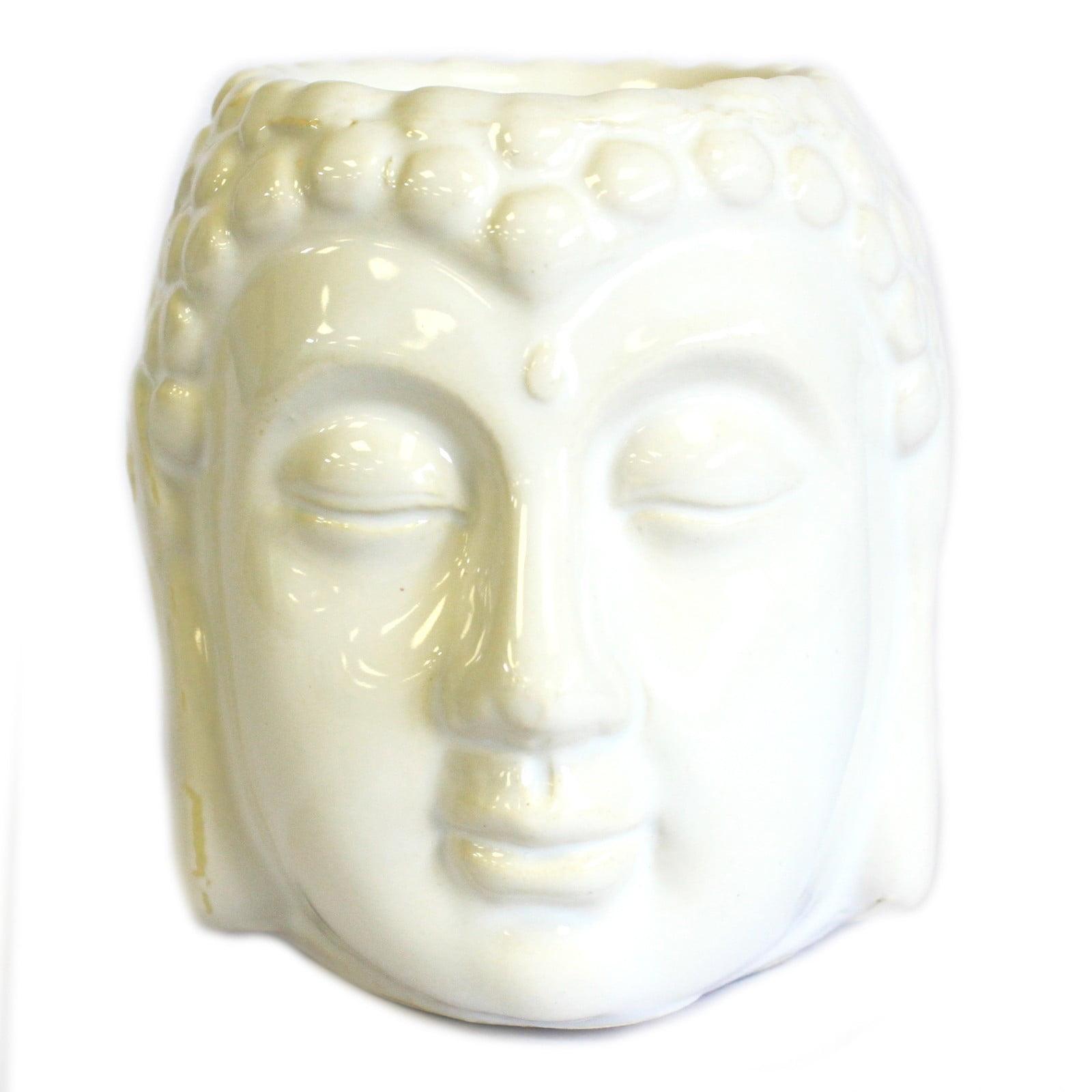 Queimador de óleo Buda (cara) – Branco
