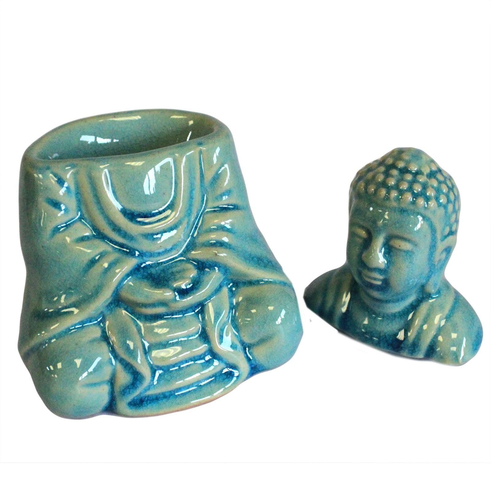 Queimador de óleo Buda (sentado) – azul