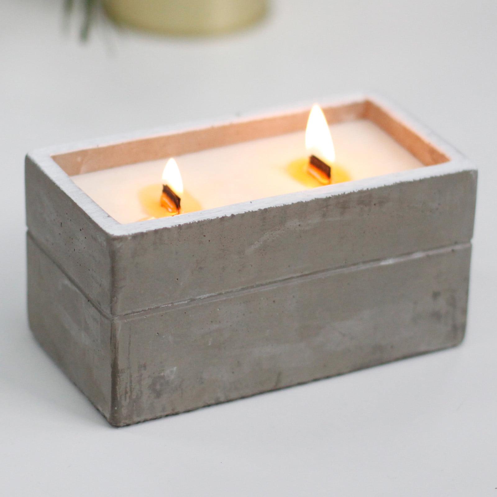 Vela em caixa de concreto – Grande – Clove & Dark Sandal
