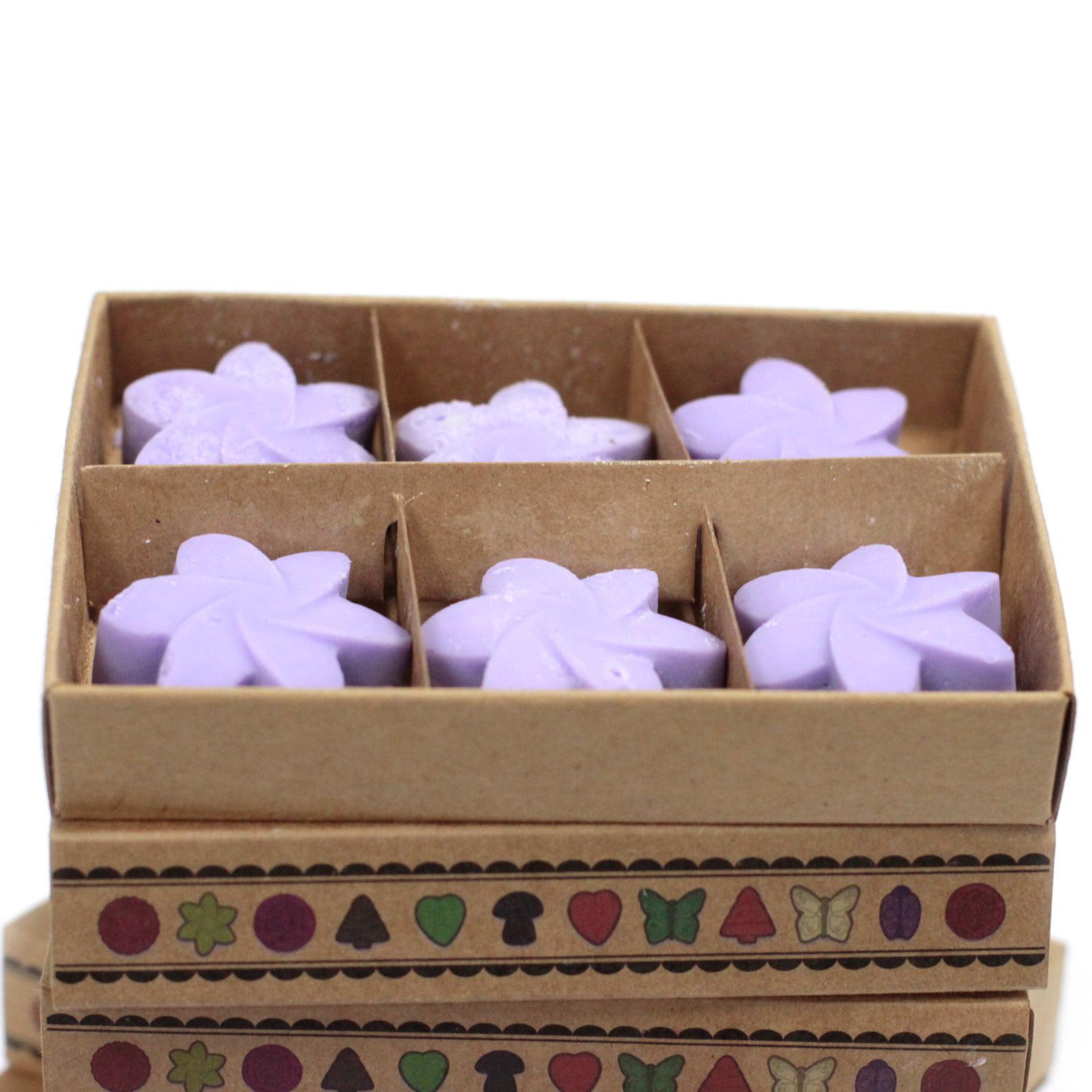 Caixa de 6 velas de soja – Campos de Lavanda
