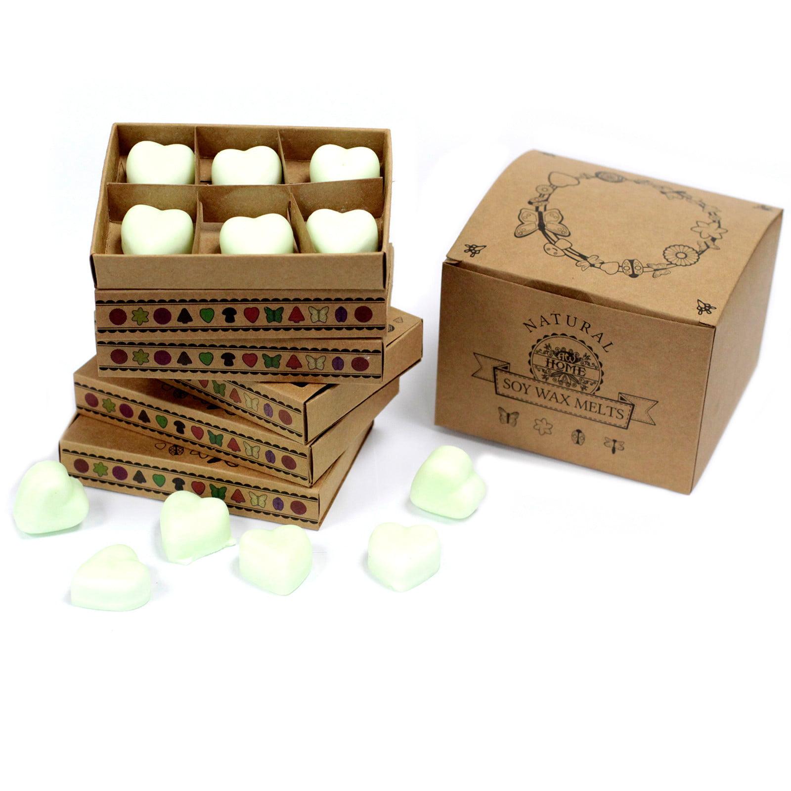 Caixa de 6 velas de soja – maçã temperada