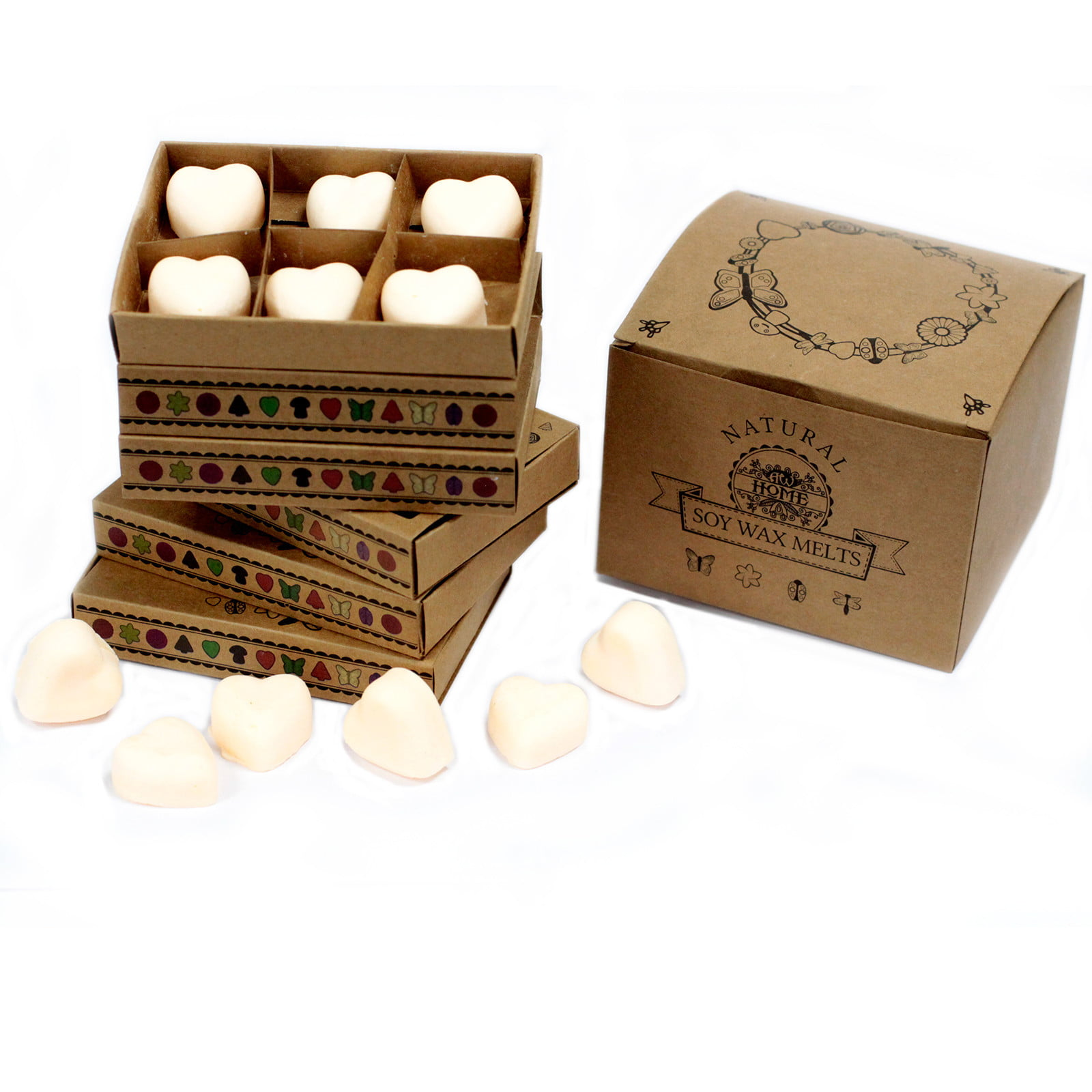Caixa de 6 velas de soja – Canela e Laranja