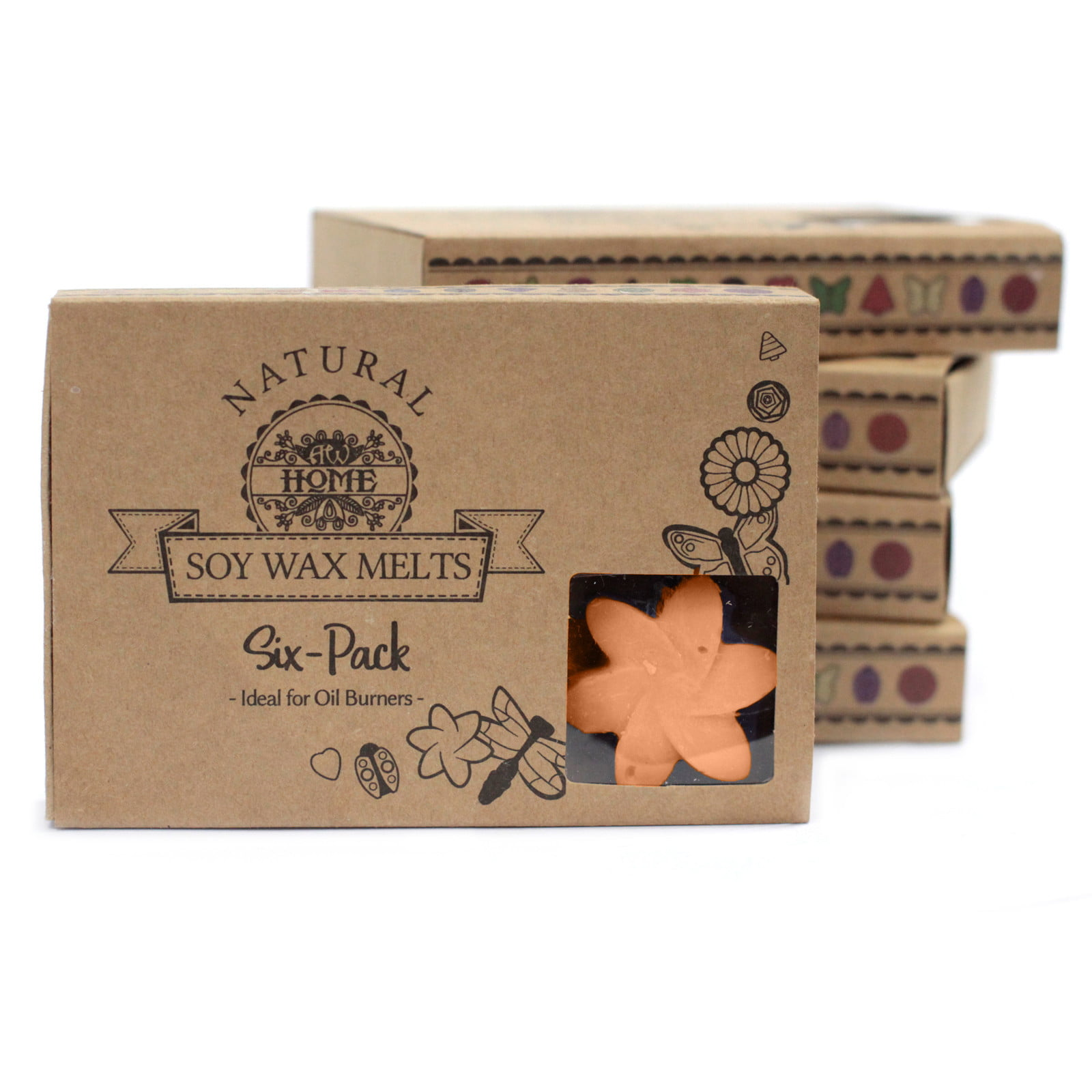 Caixa de 6 velas de Soja – Tuberosa