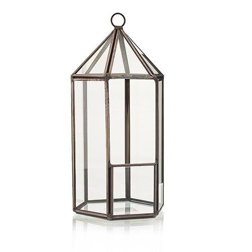Terrário de vidro – Lanterna