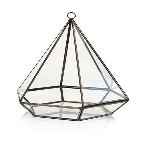Terrário de vidro – Grande Diamante