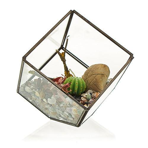 Terrário de vidro – Cubo no Canto